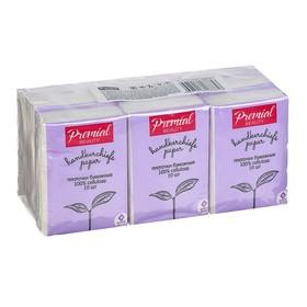 Платочки бумажные «Premial»  3 сл неароматизированные, мини Ош