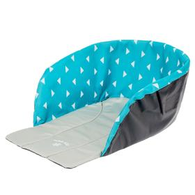 Сиденье для санок универсальное, принт: с треугольниками на бирюзовом