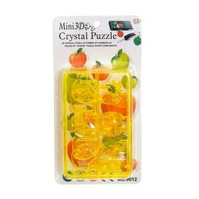 Мини-пазл 3D кристаллический «Фрукты», цвета МИКС Ош