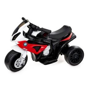 Электромотоцикл BMW S1000 RR, кожаное сиденье, цвет красный Ош