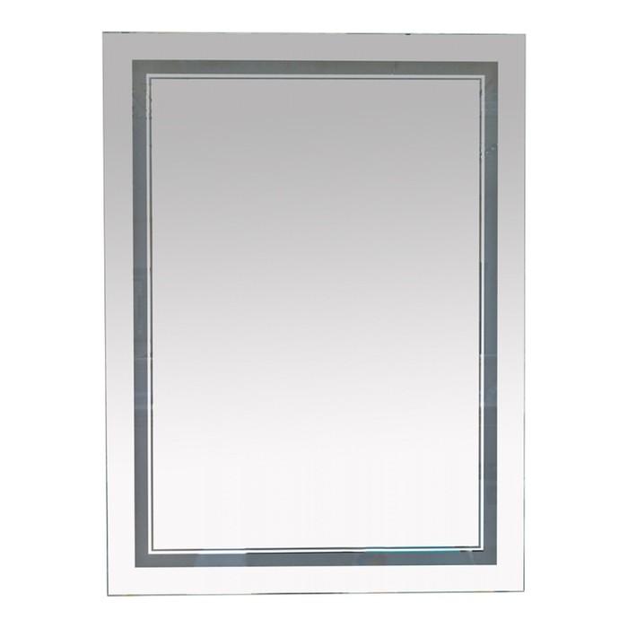 Зеркало 2 Неон - LED 600х800 сенсор на корпусе (двойная подсветка)