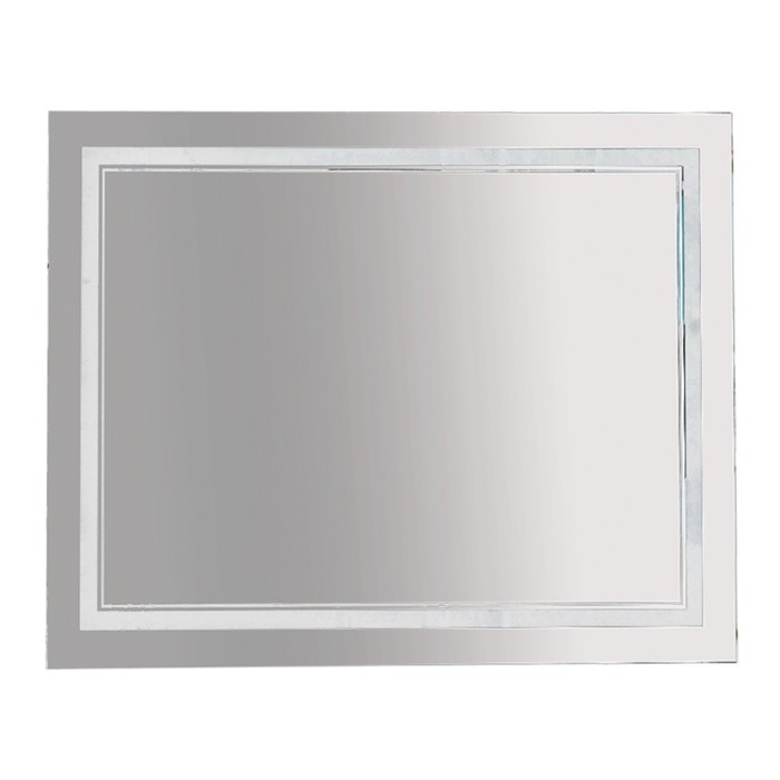Зеркало 2 Неон - LED 1000х800 клавишный выключатель (двойная подсветка)