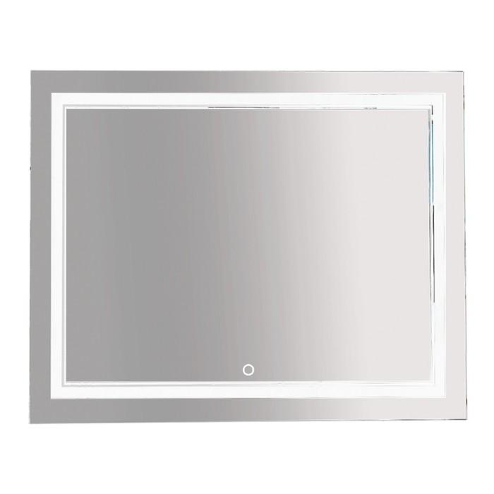 Зеркало 2 Неон - LED 1000х800 сенсор на зеркале (двойная подсветка)