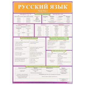 """Демонстрационный плакат """"Русский язык"""" часть 2, А2"""