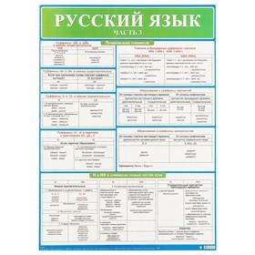 """Демонстрационный плакат """"Русский язык"""" часть 3, А2"""