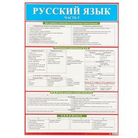 """Демонстрационный плакат """"Русский язык"""" часть 5, А2"""