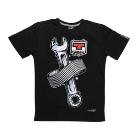 Футболка FullT Wrench, размер XS, цвет черный-серый-красный Ош