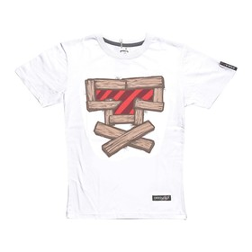 Футболка FullT T-Wood, размер XS, цвет белый-коричневый-красный Ош
