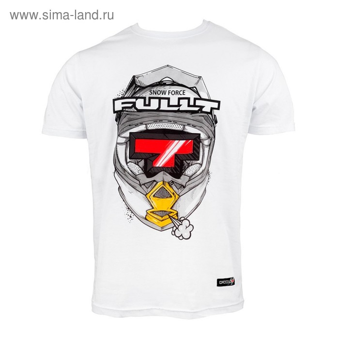 Футболка FullT T Helmet, размер M, цвет белый-красный