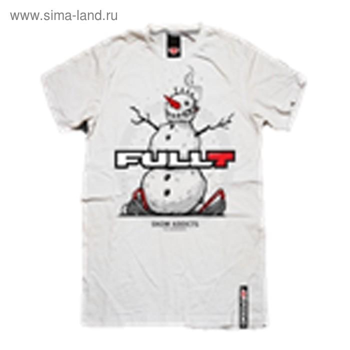 Футболка FullT Snowman, размер M, цвет белый-серый-красный