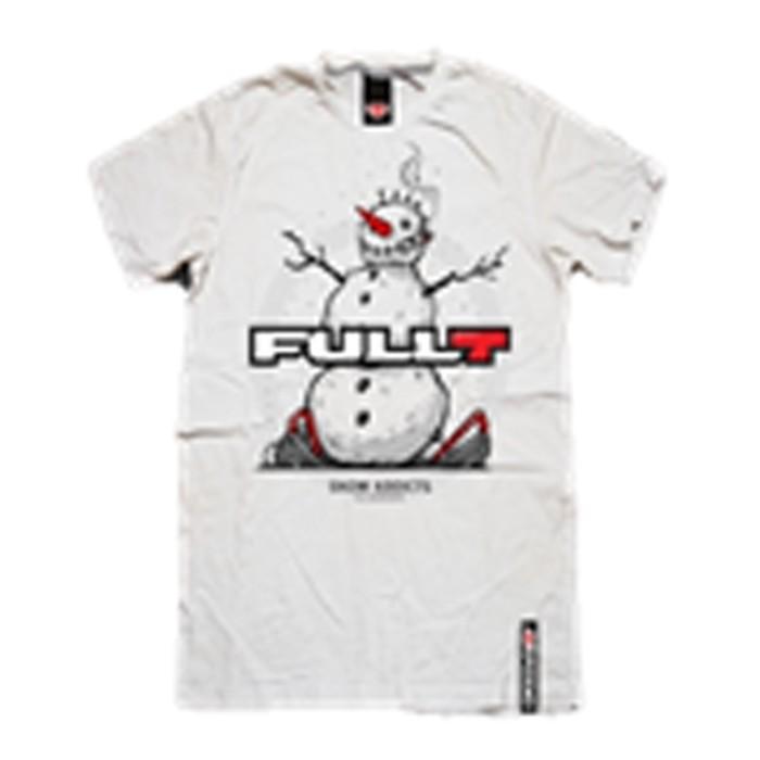 Футболка FullT Snowman, размер 2XL, цвет белый-серый-красный