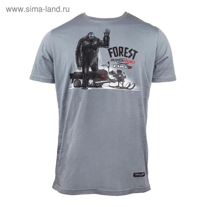 Футболка FullT Forest Hero, размер 2XL, цвет серый-черный