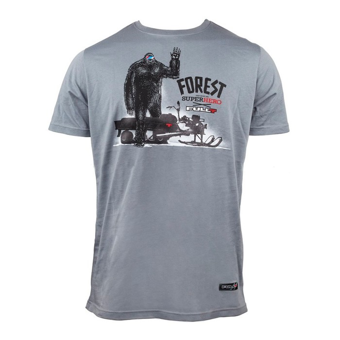 Футболка FullT Forest Hero, размер 3XL, цвет серый-черный