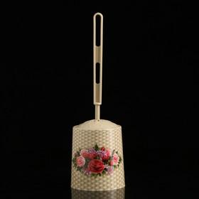 Ёрш для унитаза с подставкой «Букет», цвет кремовый