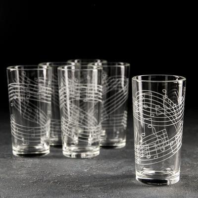 Набор стаканов GiDGLASS «Джаз», 230 мл, 6 шт