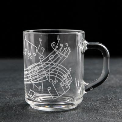 Кружка гравированная «Джаз», 200 мл, рисунок серпантин, в подарочной упаковке - Фото 1