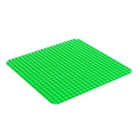 Пластина-основание для конструктора, 38,4*38,4 см, цвет зелёный Ош