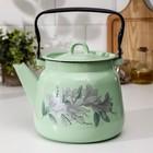 Чайник сферический 3,5 л, цвет салатовый