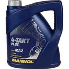 Масло моторное MANNOL 4T п/с 10w40 PLUS, 4 л