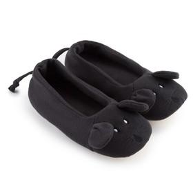 Тапочки женские цвет чёрный, размер 35