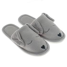 Тапочки женские цвет серый, размер 35