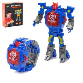 Робот «Часы», трансформируется в часы, работает от батареек, цвет синий