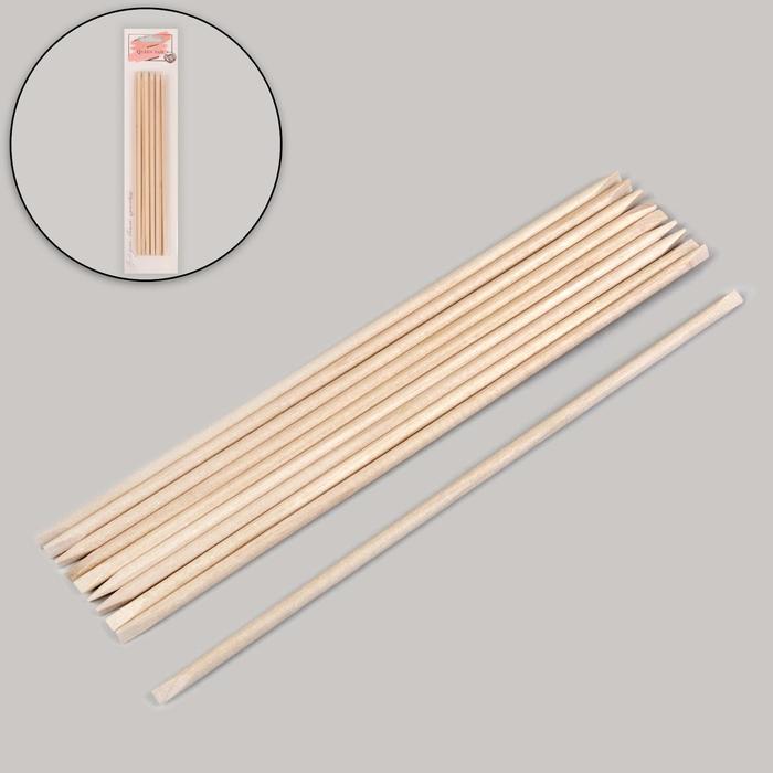 Апельсиновые палочки для маникюра, 18 см, 10 шт