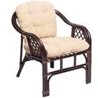 Кресло Marcos-В, с подушкой, темно-коричневый