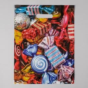 Пакет 'Новогодние игрушки', полиэтиленовый с вырубной ручкой, 40х31 см, 60 мкм Ош