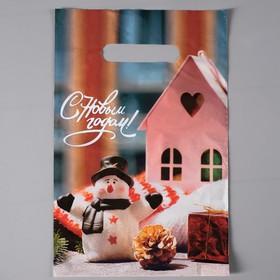 Пакет 'Праздничный уют', полиэтиленовый с вырубной неусиленной ручкой, 20х30 см, 35 мкм Ош
