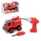 Конструктор винтовой «Пожарная», с электрическим шуруповертом, радиоуправляемый, 31 деталь