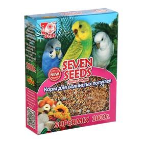 Корм Seven Seeds SUPERMIX для волнистых попугаев, 1 кг Ош