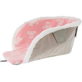 Сиденье для санок с мехом универсальное, принт: с медвежатами, цвет розовый