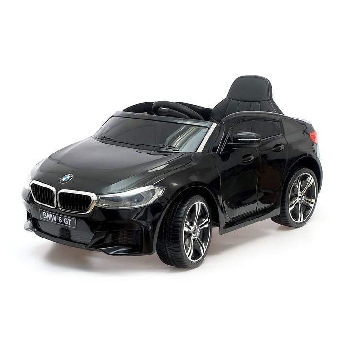 """Электромобиль """"BMW 6 Series GT"""", окраска черный, EVA колеса, кожаное сидение"""