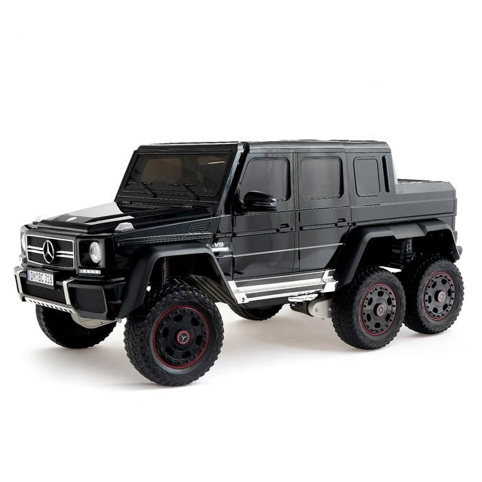 """Электромобиль """"MERCEDES-BENZ G63 AMG 6x6"""", 6WD полный привод, окраска глянец черный, EVA"""