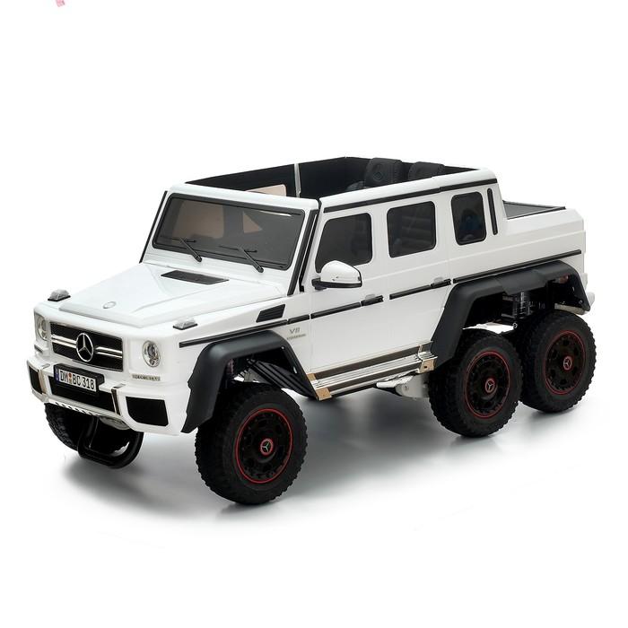 """Электромобиль """"MERCEDES-BENZ G63 AMG 6x6"""", 6WD полный привод, окраска белый, EVA"""