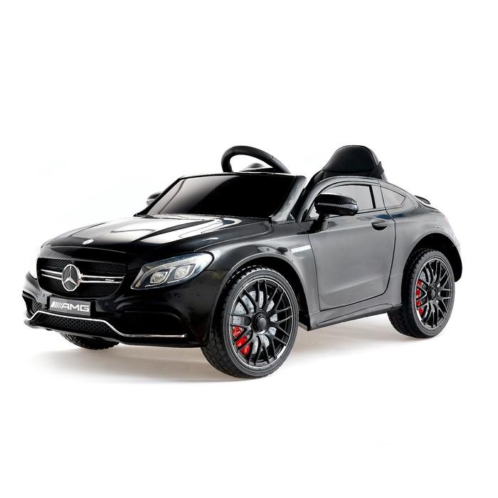 """Электромобиль """"MERCEDES-BENZ C63 S AMG"""", окраска черный, EVA колеса"""