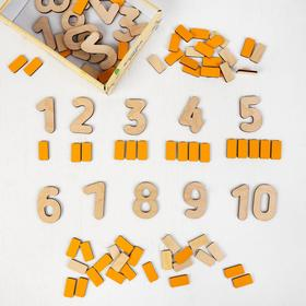 Деревянные цифры-раскраски «Изучаем счёт» МИКС
