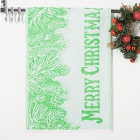 Полотенце махровое Privilea 19C4 Merry Christmas1 50х30 см, зеленый, хлопок 100%
