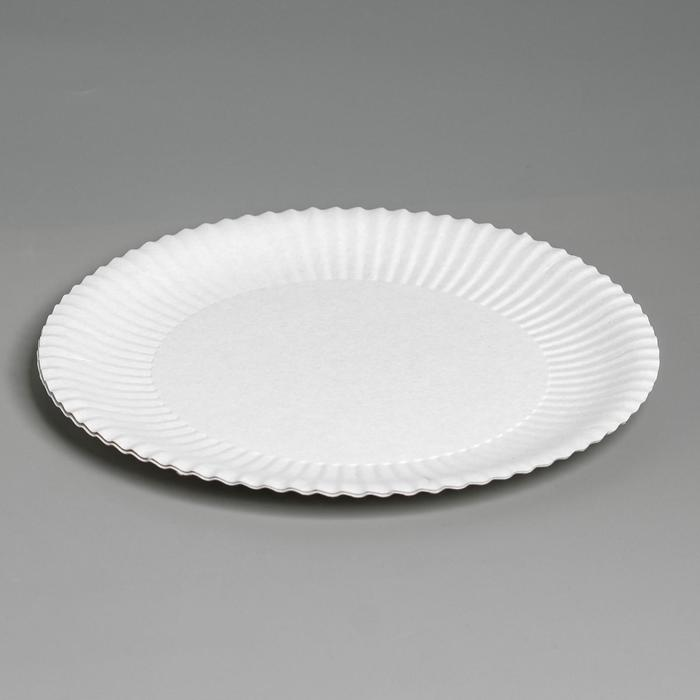 Тарелка одноразовая Белая 17 см