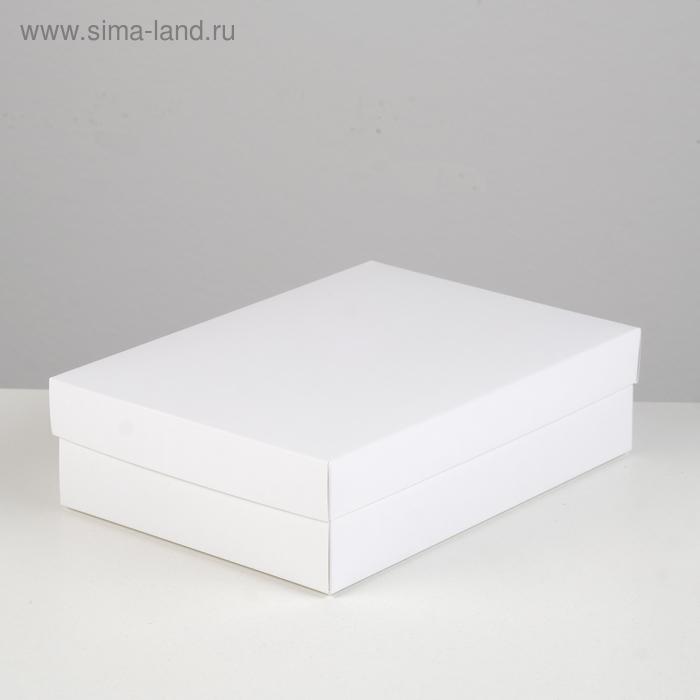 Коробка картонная без окна, белый, 21 х 15 х 5 см