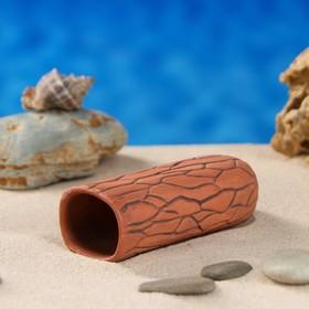 Аквариумная декорация 'Терракотовая трубка',  коричневая малая Ош