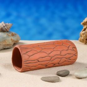 Аквариумная декорация 'Терракотовая трубка',  коричневая средняя Ош