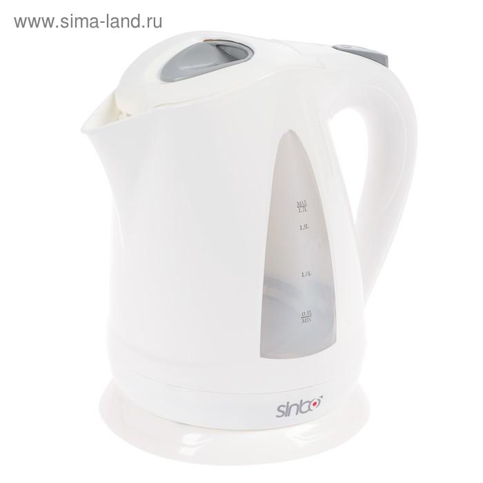 Чайник электрический Sinbo SK 7324, 2000 Вт, 1.7 л, белый