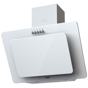 Вытяжка KRONA LIVA 600 white PB, наклонная, 3 скорости, 550 м3/ч, кнопки, белая