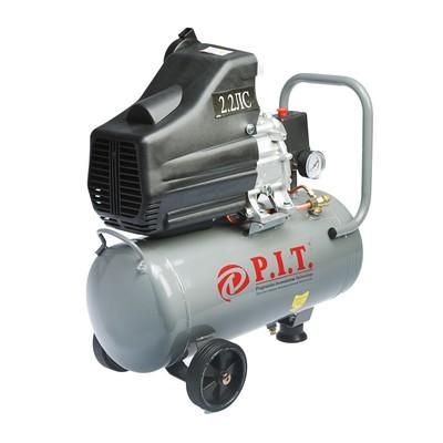 Компрессор P.I.T. PAC24-C, масляный, 1.5 кВт, 206 л/мин, 24 л, 1 выход, европереходник