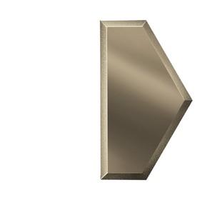 Зеркальная бронзовая плитка «Полусота» с фацетом 10 мм, 100х173 мм