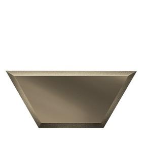 Зеркальная бронзовая плитка «Полусота» с фацетом 10 мм, 200х86 мм
