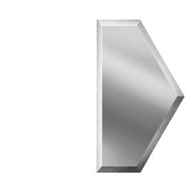 Зеркальная серебряная плитка «Полусота» с фацетом 10 мм, 125х216 мм