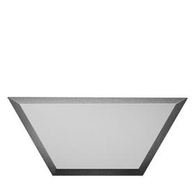 Зеркальная серебряная матовая плитка «Полусота» с фацетом 10 мм, 200х86 мм